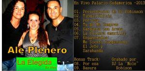 Tapa CD La Elegida en vivo_ALE PLENERO