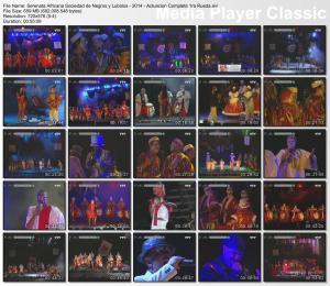 Serenata Africana Sociedad de Negros y Lubolos - 2014 - Actuacion Completa 1ra Rueda
