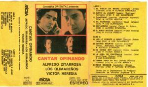 Cantar Opinando - 1984 - Intérpretes Varios - Tapa e Interior