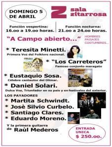 Espectáculo de música criolla