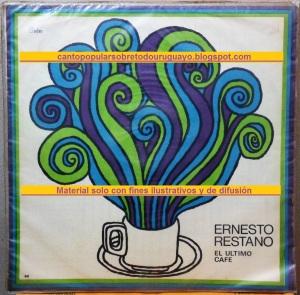 Ernesto Restano - LP El Ultimo Cafe 1973 Frente